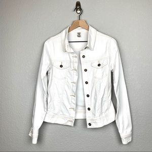 Prana White Jean Jacket